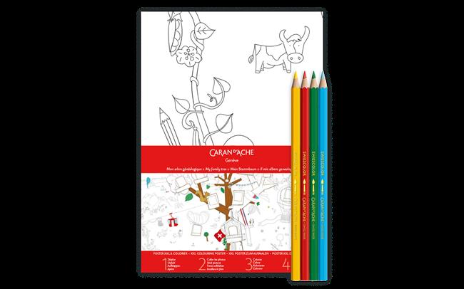 Poster XXL Albero Genealogico + 4 Colori FANCOLOR
