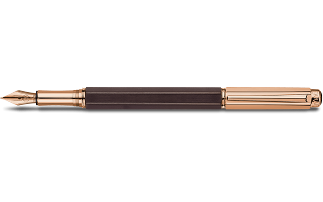 Rose Gold Plated VARIUS EBONY Fountain Pen