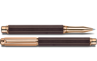 Rose-gold plated VARIUS EBONY roller pen