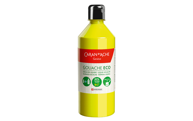 GOUACHE ECO 500 ml Giallo Limone Fluo