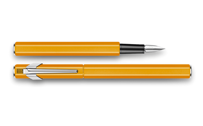 Fountain Pen 849 Metal Orange Fluo