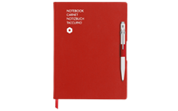 Notebook OFFICE A5 Canvas-Red