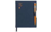 Notizbuch OFFICE A6 STOFF.-BLAU