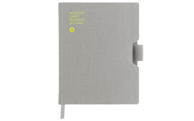 Carnet OFFICE A6 Toile-Gris