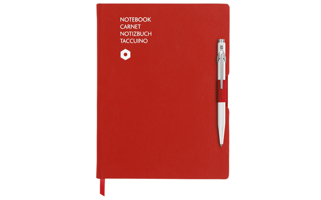 Stylo Bille 849 Blanc & Carnet Office A5 Rouge