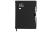 Stylo Bille 849 Gris & Carnet Office A5 Noir