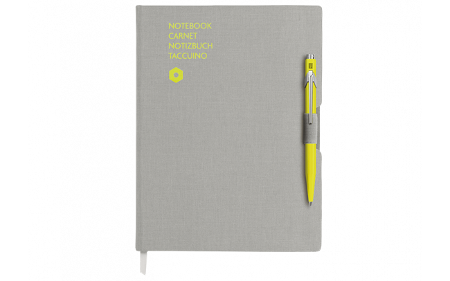 Stylo Bille 849 Jaune & Carnet Office A5 Gris