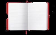 849 Kugelschreiber ORANGE & Notizbuch OFFICE A6 BLAU