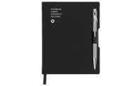 Stylo Bille 849 Gris & Carnet Office A6 Noir