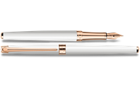 Stylo Plume LÉMAN SLIM Blanc Or Rose