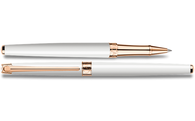 White Rose Gold LÉMAN SLIM Roller Pen