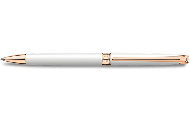 Stylo bille LEMAN SLIM BLANC OR ROSE