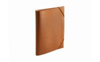 Beige LEATHER A4 Folder