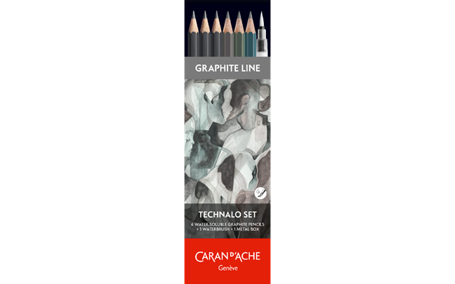 GRAPHITE LINE - 6 assorted TECHNALO pencils (2B, HB, B)