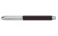 Silver-Plated and Rhodium-Coated VARIUS EBONY Roller Pen