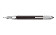 Silver-Plated and Rhodium-Coated VARIUS EBONY Ballpoint Pen