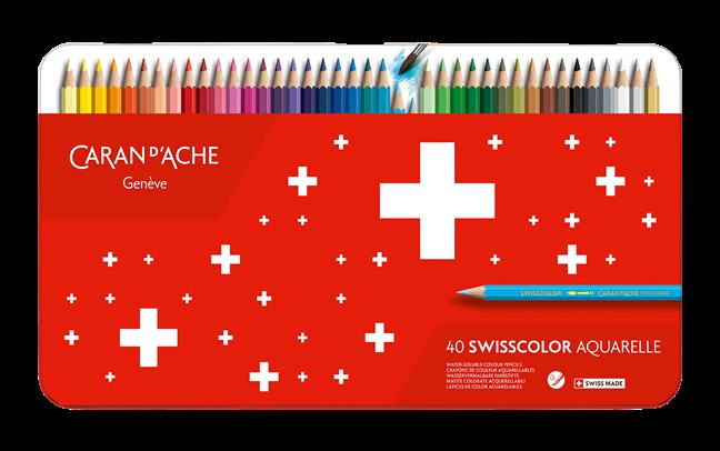 Etui mit 40 wasservermalbaren Farben SWISSCOLOR