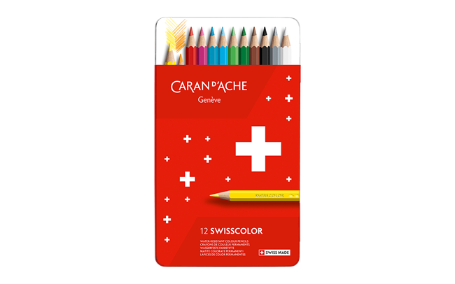 Box of 12 Colours Pencils SWISSCOLOR permanent