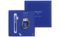 Gift Set KLEIN BLUE® LÉMAN Fountain Pen with Inkwell - Limited Edition