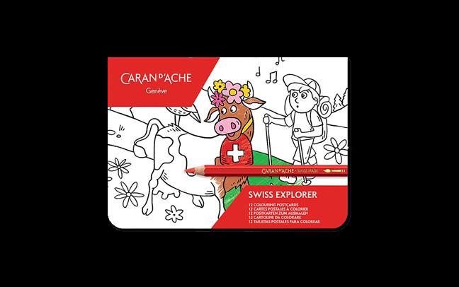 Cartoline da colorare Swiss Explorer